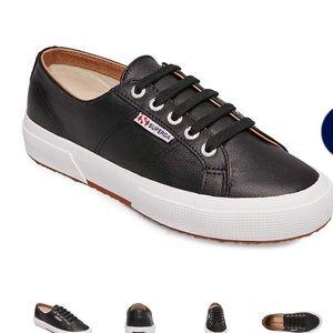 Superga 2750 NAPPALEAU BLACK leather sneakers